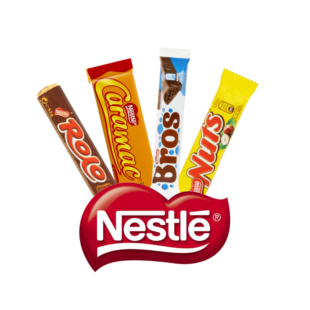 Nestlé: Rolo, Nuts, Bros, Caramac