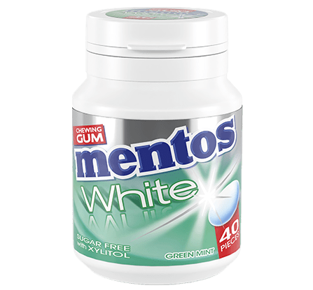 Mentos | White Green Mint | 6 potten