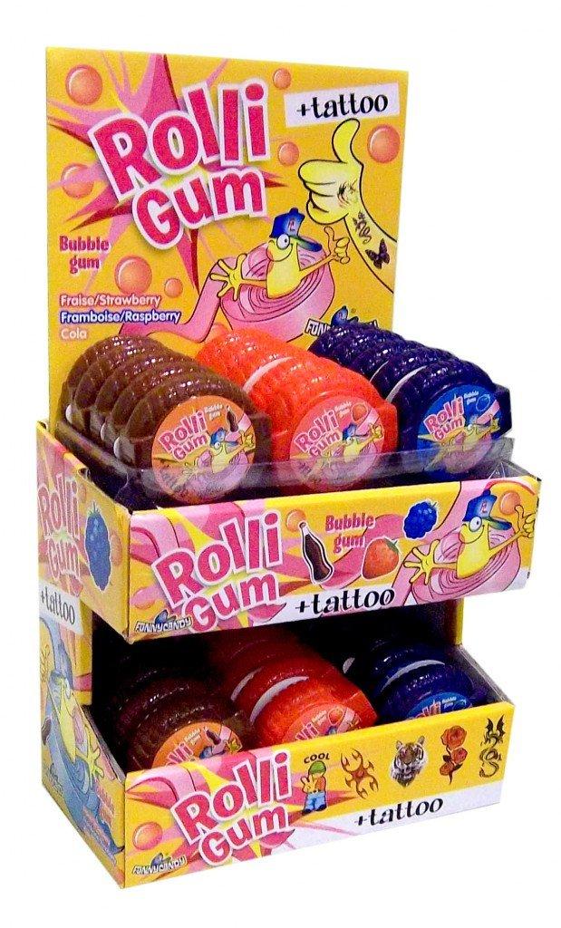 Funny Candy | Rolligum | 30 stuks