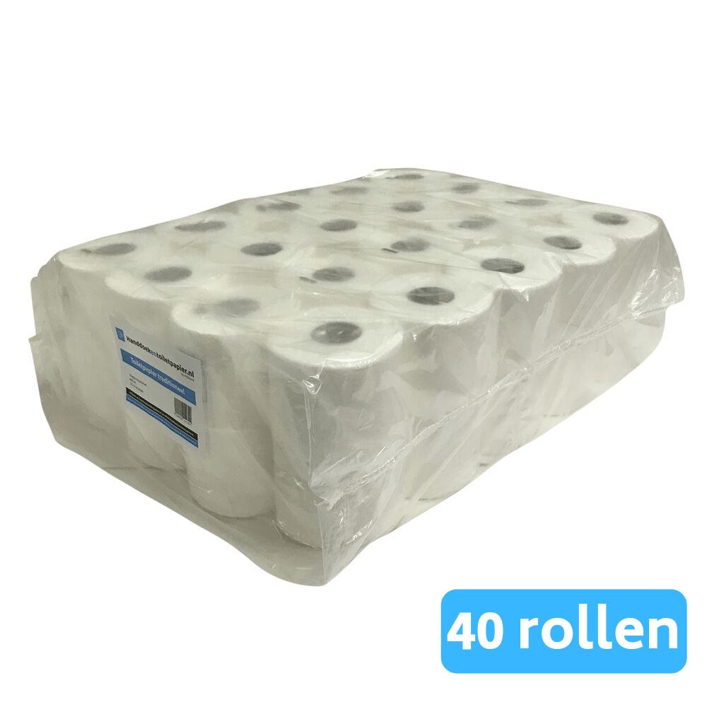4UStore toiletpapier recycled tissue 2-laags 40 rollen