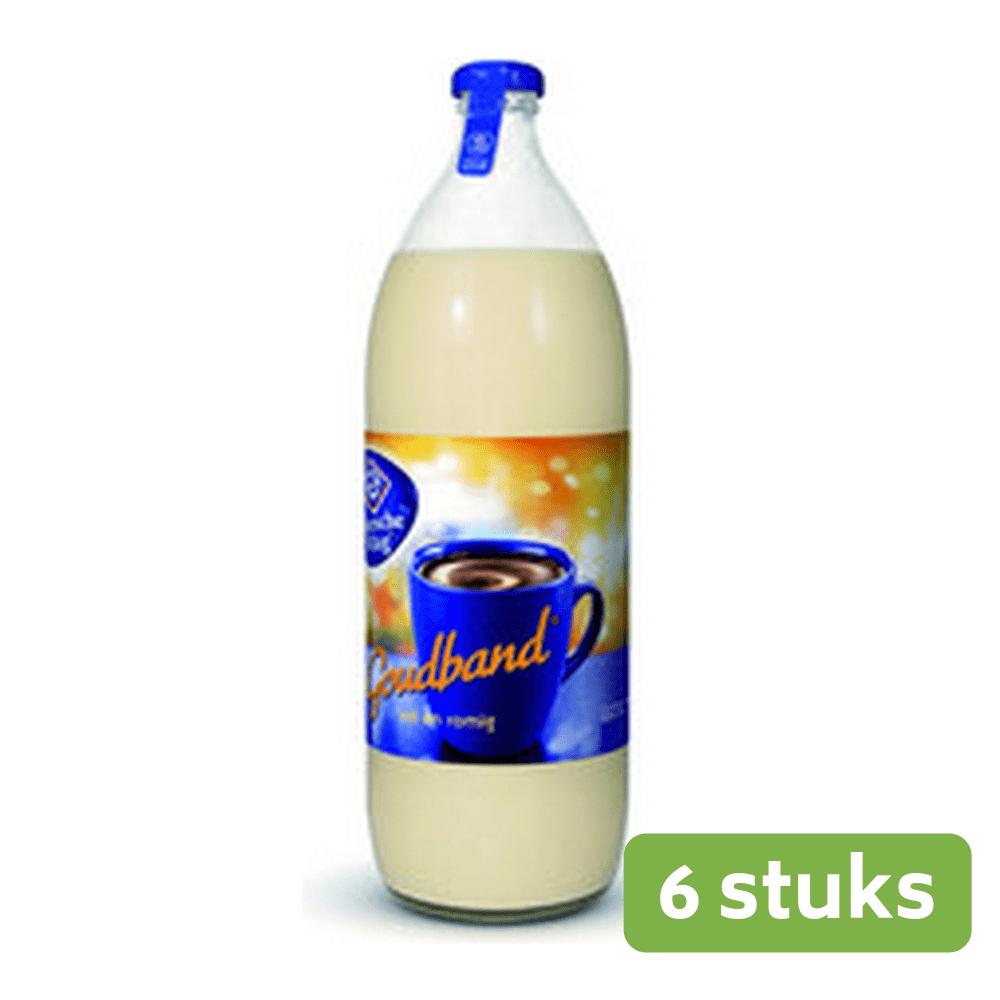 Friesche Vlag Goudband koffiemelk fles 1 liter 6 fl.