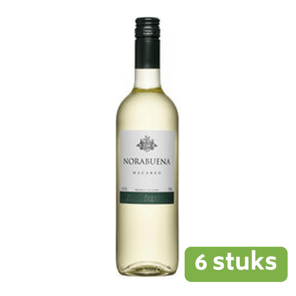Norabuena Macabeo | Droge witte wijn | Fles 6 x 0,75 liter