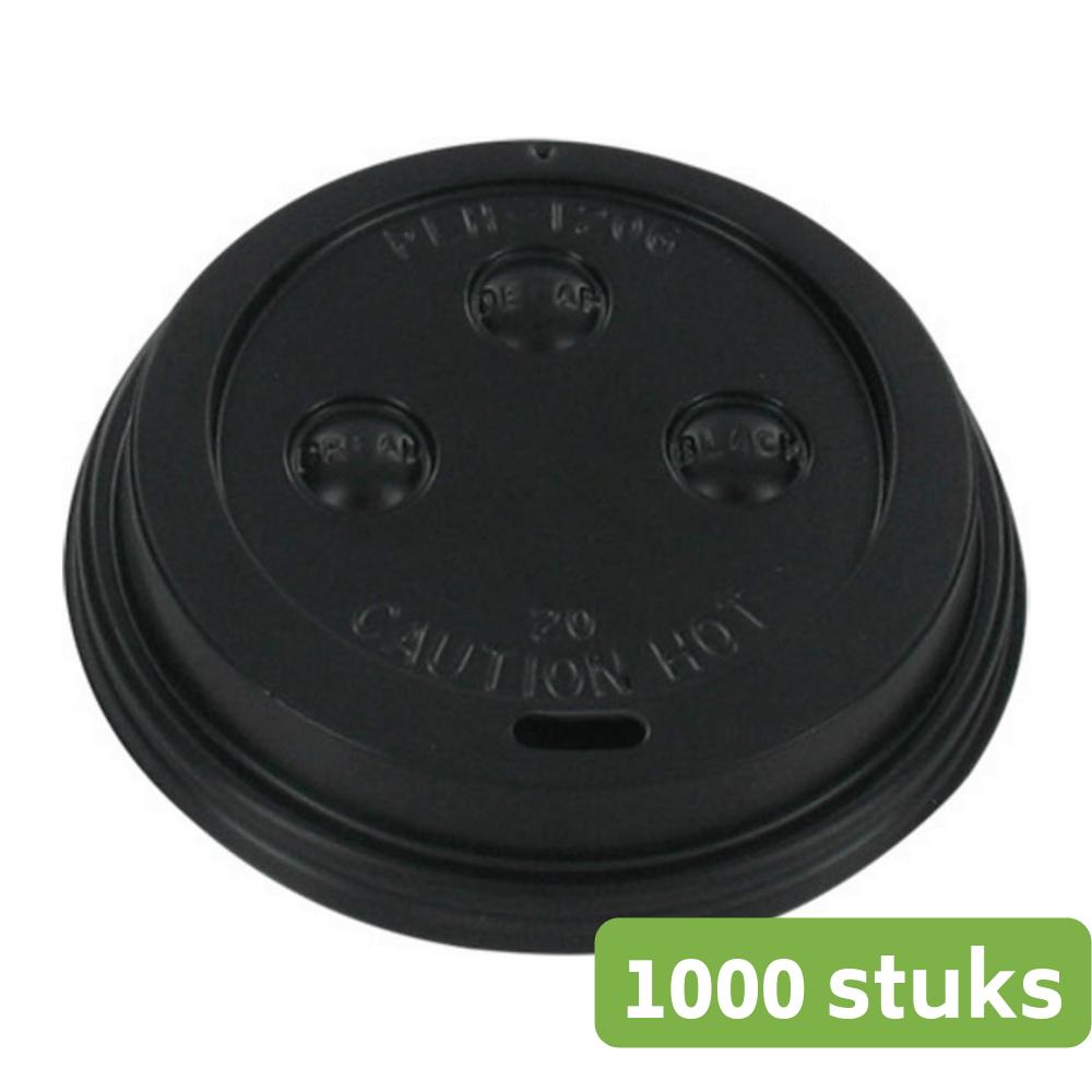 Deksel Zwart 180 ml zwart 20 x 50 stuks Ø 70 mm