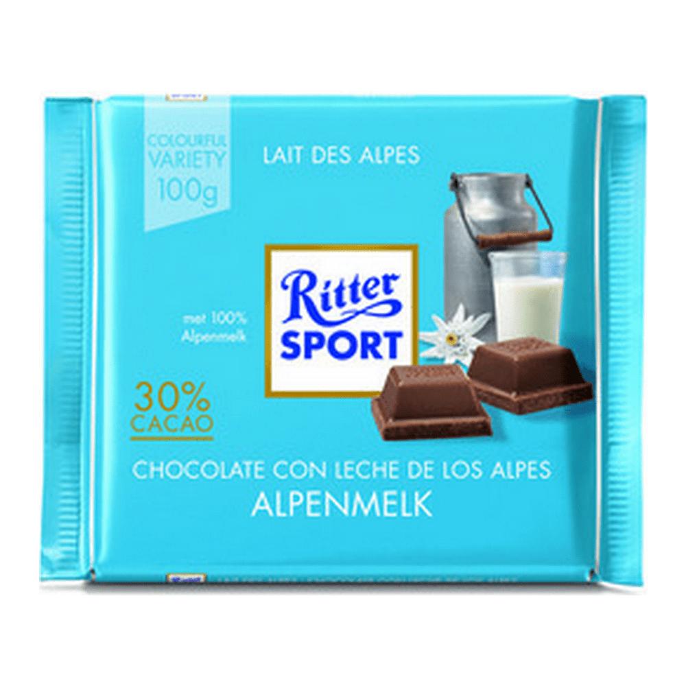 Rittersport | Alpenmelk | 10 stuks