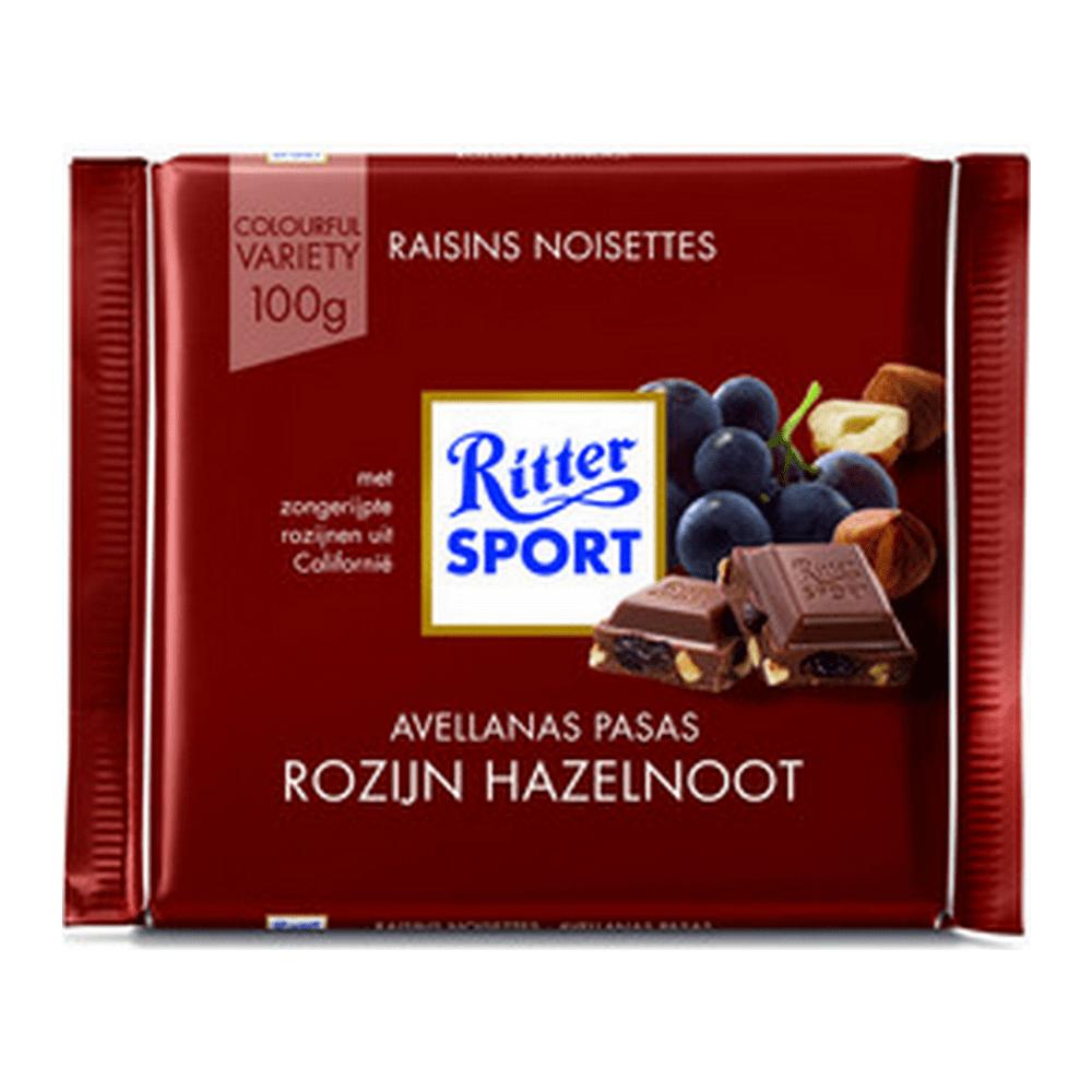 Rittersport | Rozijn Hazelnoot | 12 stuks