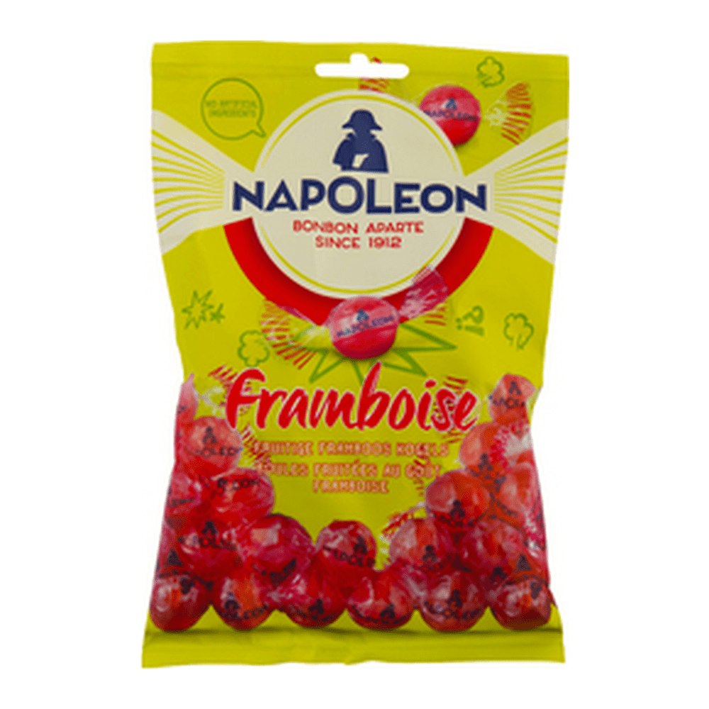 Napoleon | Framboos Kogels | 12 x 150 gram