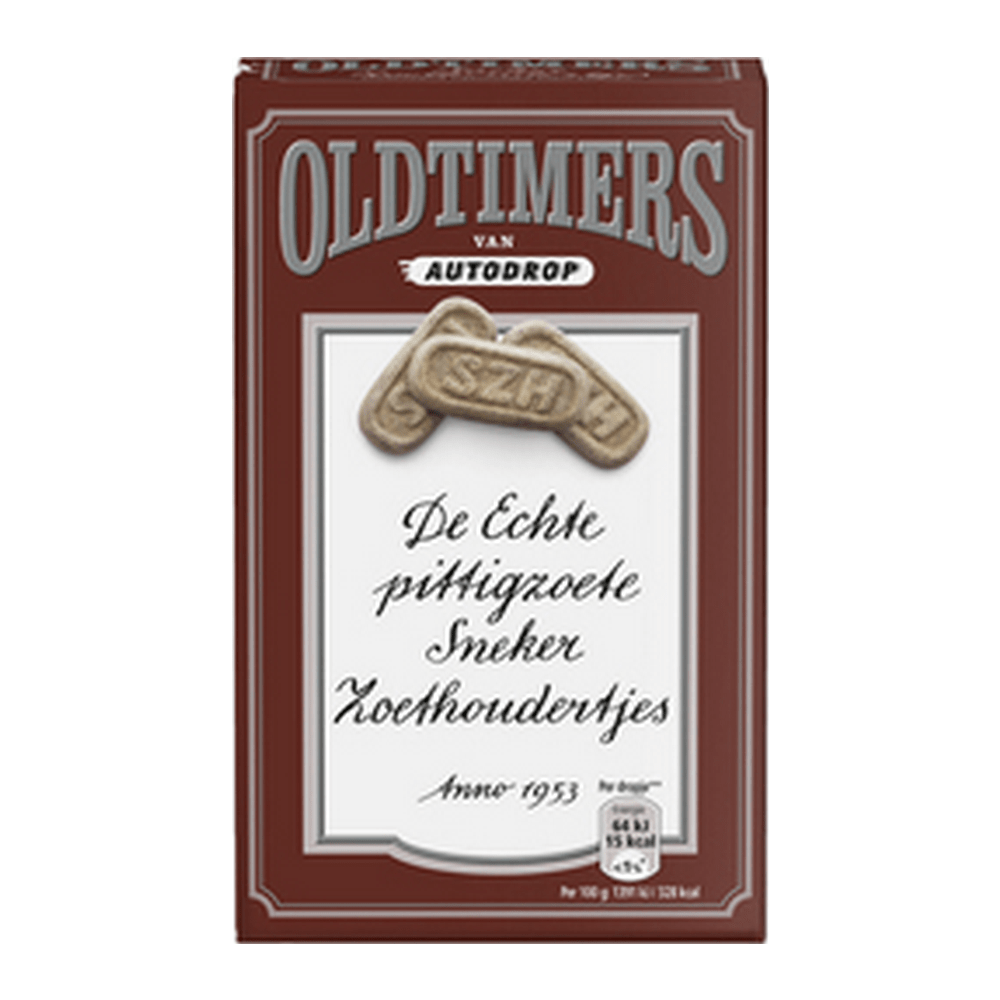 Oldtimers | Pittigzoete sneker zoethoudertjes | 6 x 235 gram