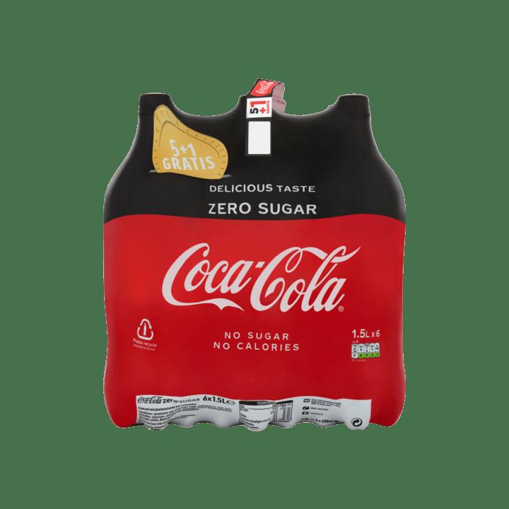 Coca Cola Zero | Petfles 6 x 1,5 liter