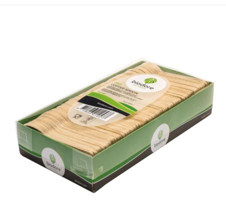 Biodore koffielepel hout ml 98 mm 12 x 250 stuks