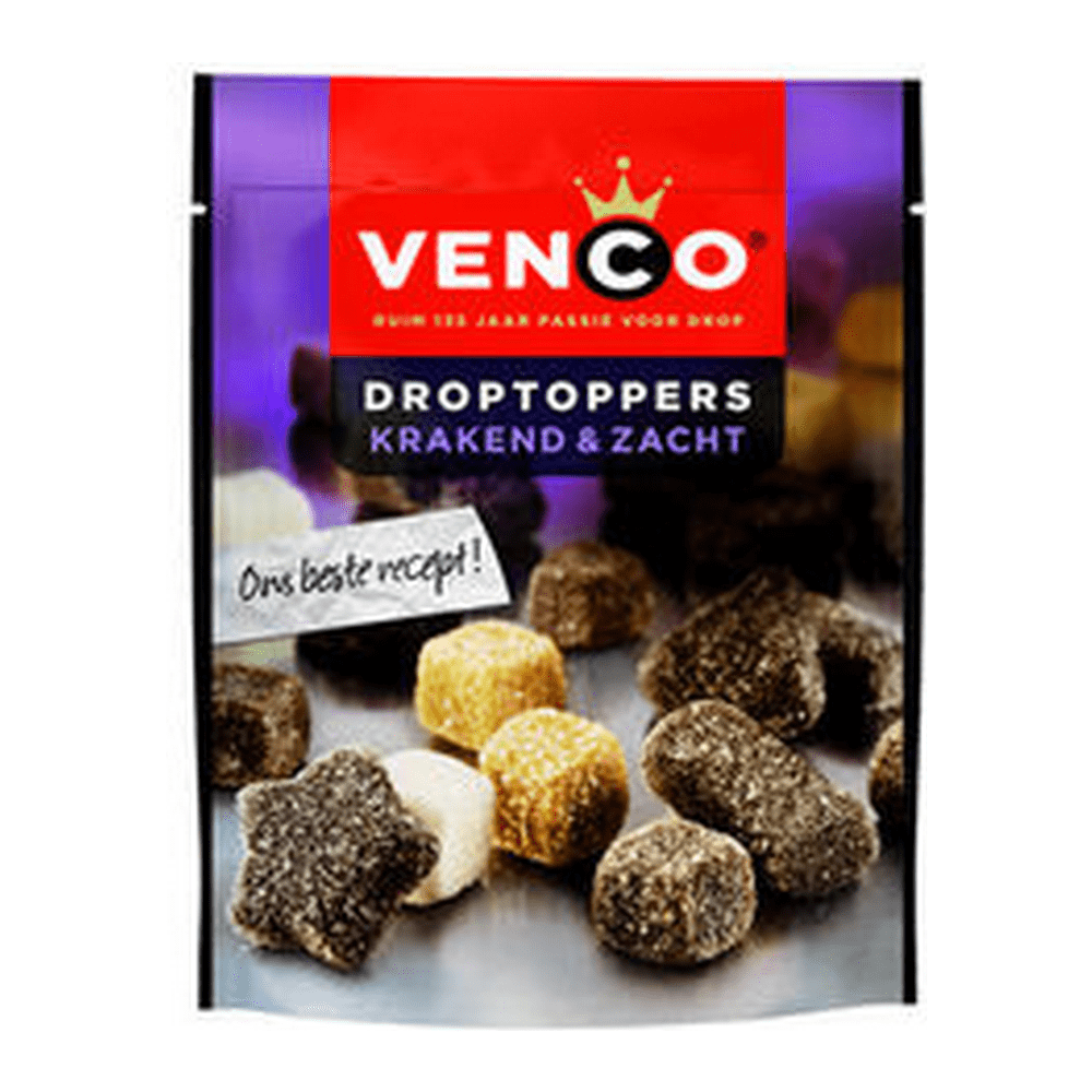 Venco | Droptoppers | Krakend & Zacht | 10 x 190 gram