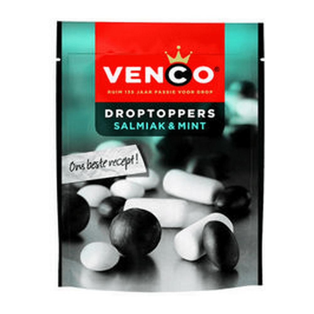 Venco | Droptoppers | Salmiak&Mint | Stazak 10 stuks