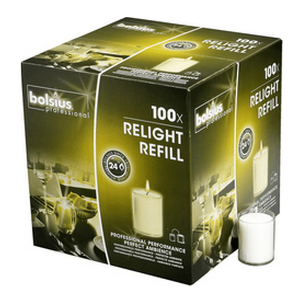 Bolsius | Relight transparant | Navulling 100 stuks