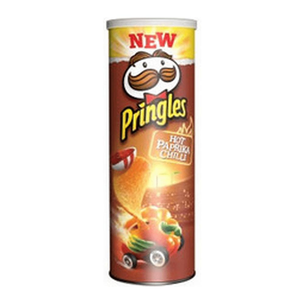 Pringles Hot Paprika Chili 165 gr 9 stuks