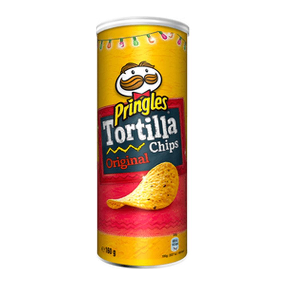 Pringles Tortilla Chips Naturel 160 gr 18 stuks
