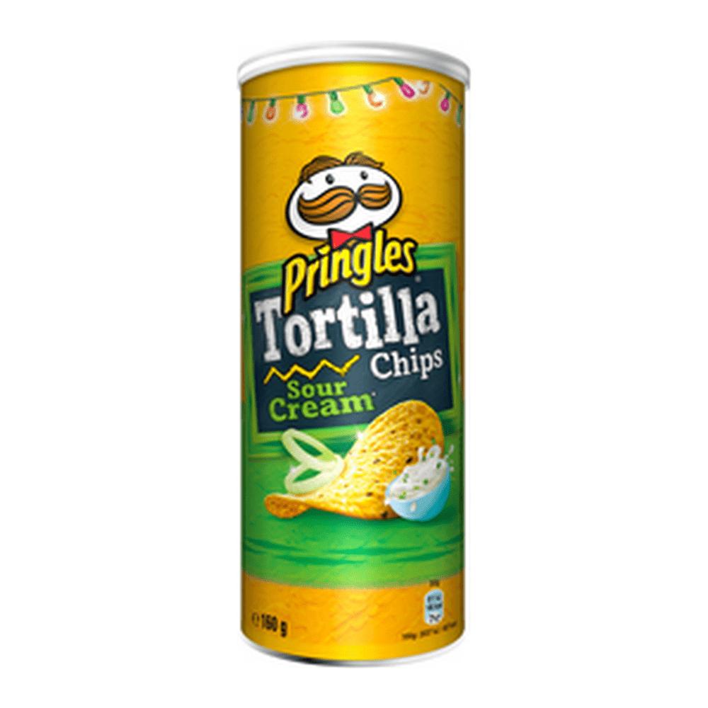 Pringles Tortilla Chips Sour Cream & Onion 160 gr 18 stuks