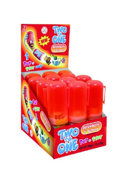 Two to One | Strawberry Lemon | 12 lollies