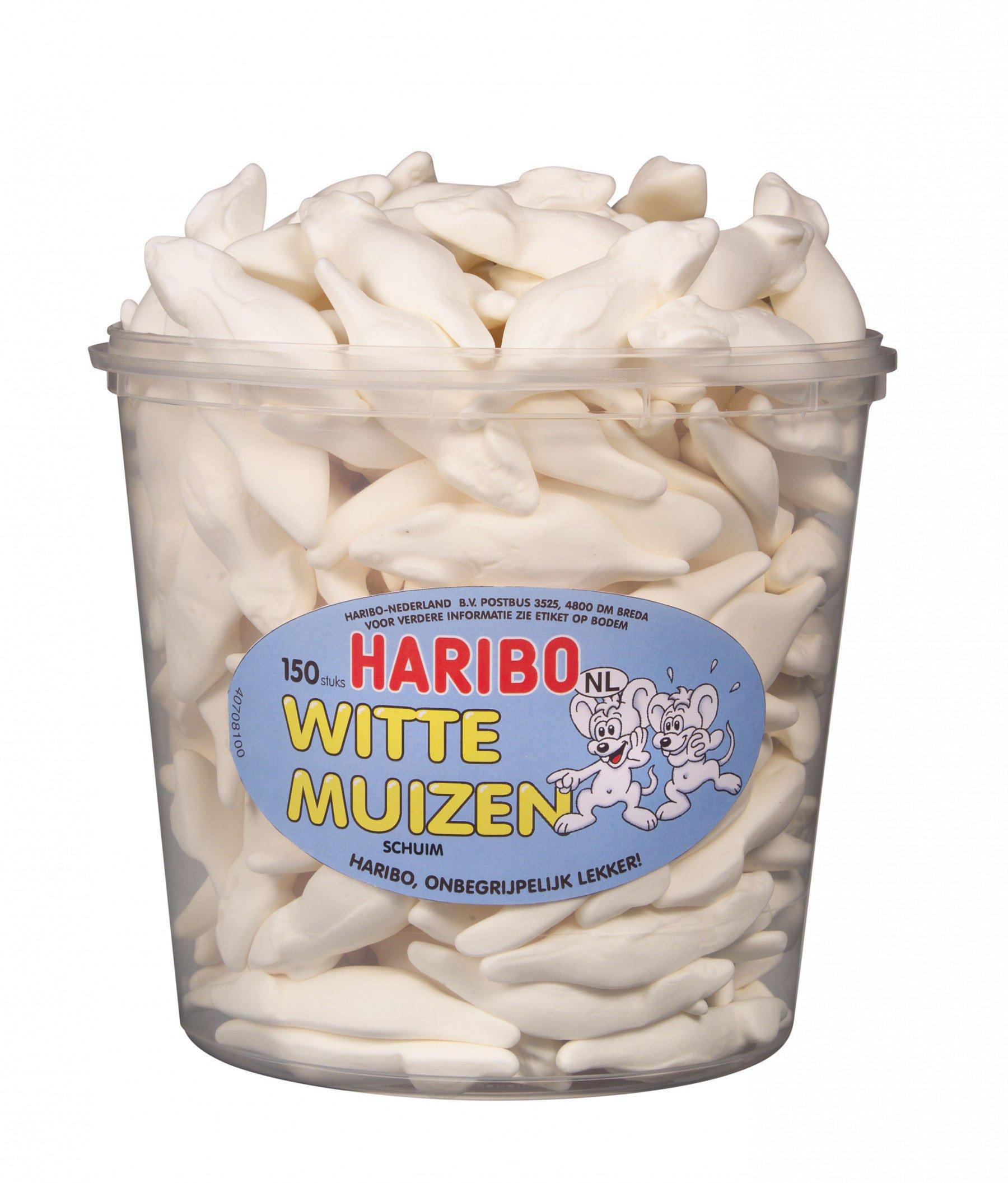 Haribo | Witte Muizen | 150 stuks