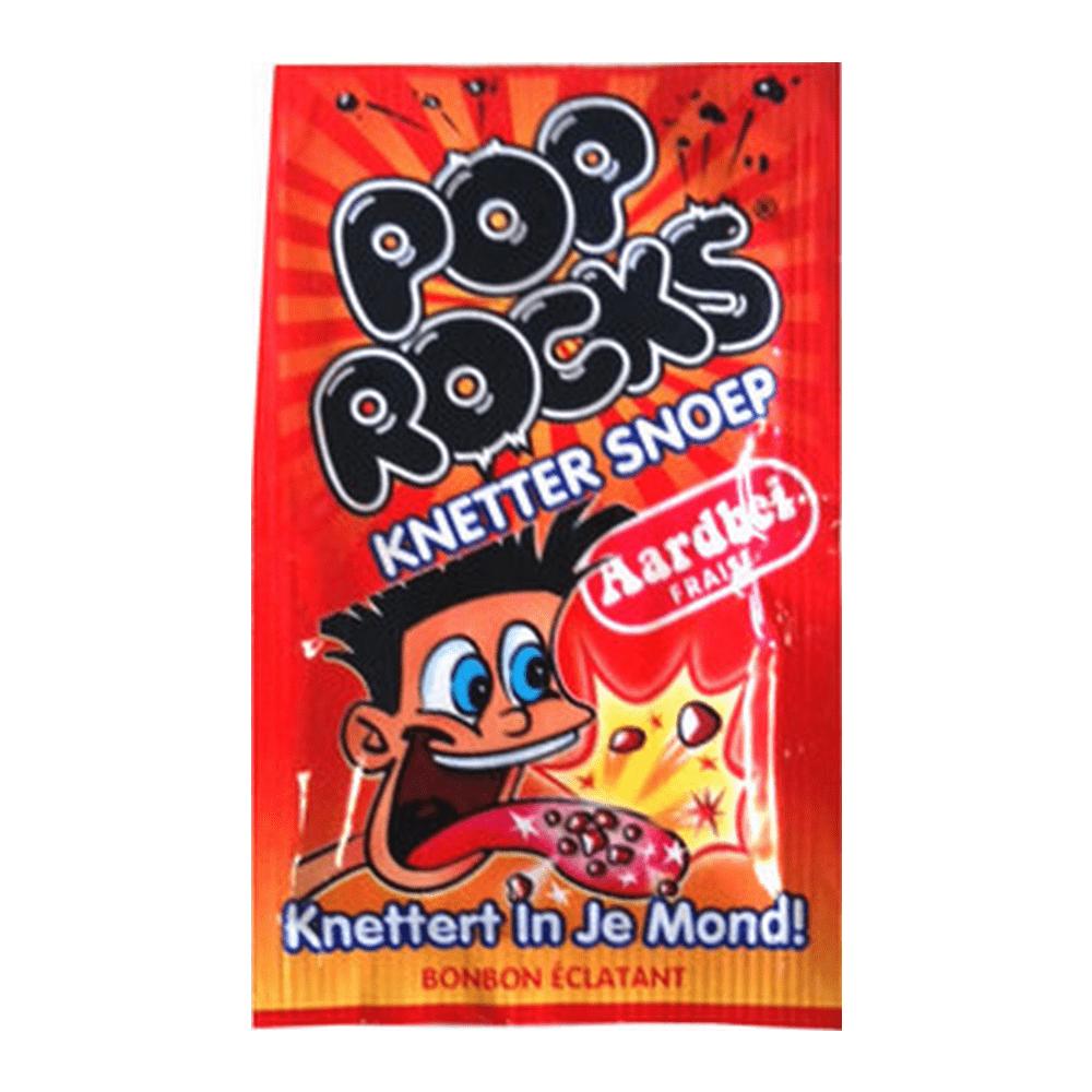 Pop Rocks | Knettersnoep | Aardbei | 50 stuks