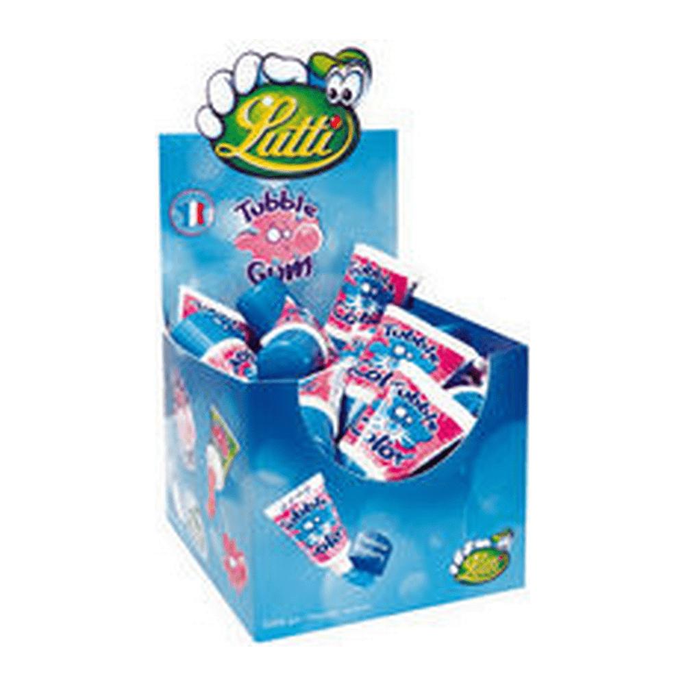 Lutti | Tubble Gum | Framboos | Tube 36 stuks