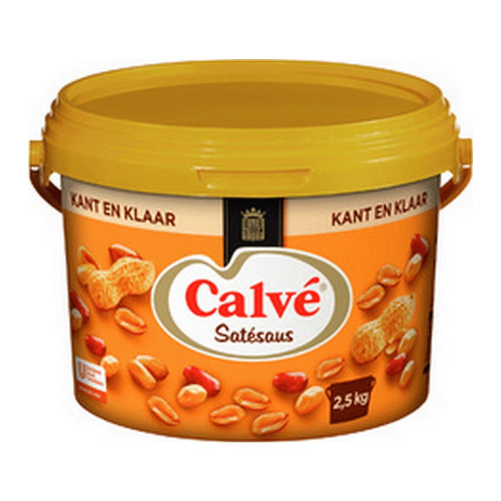 Calvé | Satésaus | Kant en klaar | Emmer 2,5 kg
