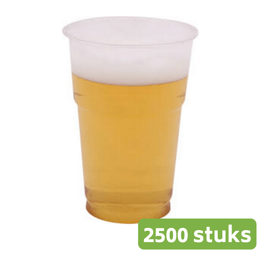 Plastic Bierglazen Soft 2500 stuks