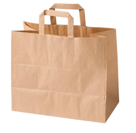 Biodore papieren draagtas 32 x 17 x 27 cm 250 stuks