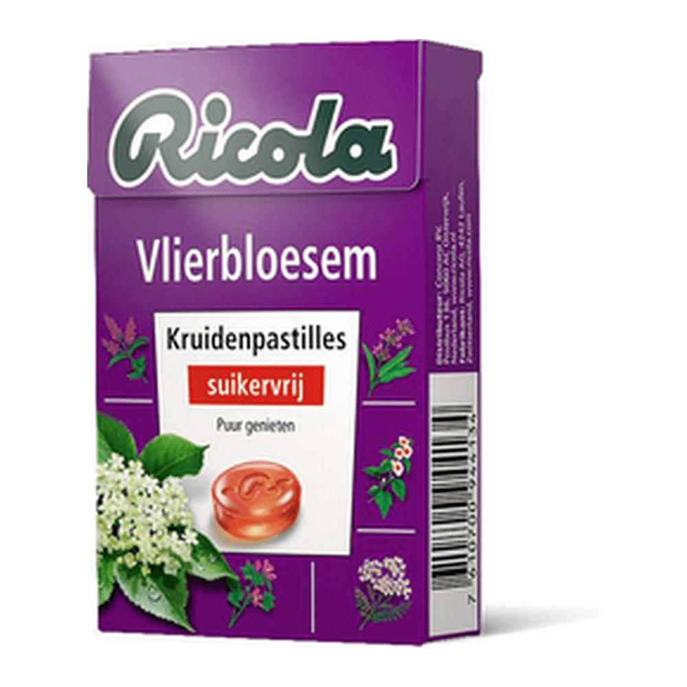 Ricola | Kruidenpastilles | Vlierbloesem | Suikervrij | Doos 20 stuks