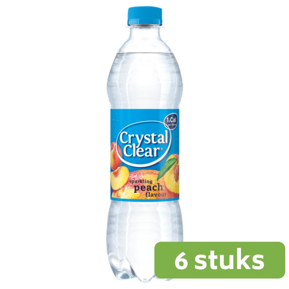 Crystal Clear Peach | Petfles 6 x 0,5 liter