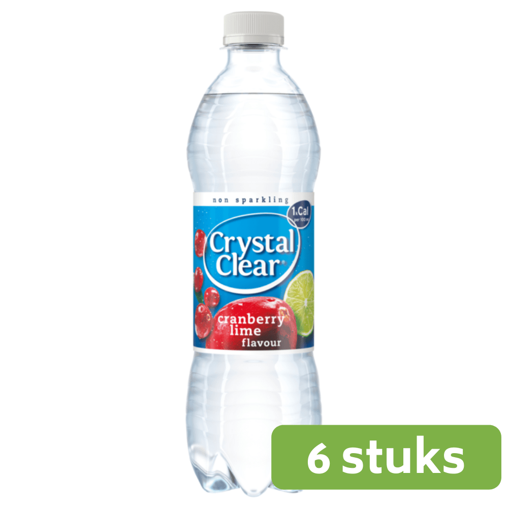 Crystal Clear | Cranberry & Lemon | 6 x 0,5 liter