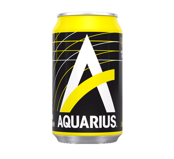 Aquarius Wit Lemon | Blik 24 x 33 cl