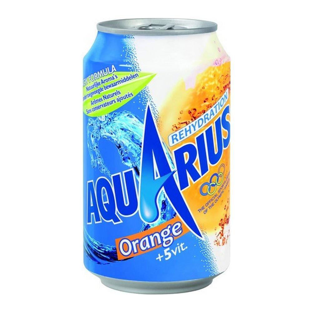 Aquarius Orange blik, 33cl à 24 stuks