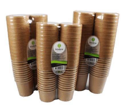 Biodore Soepkom en deksel Kraft 475 ml 16oz 20 x 25 stuks