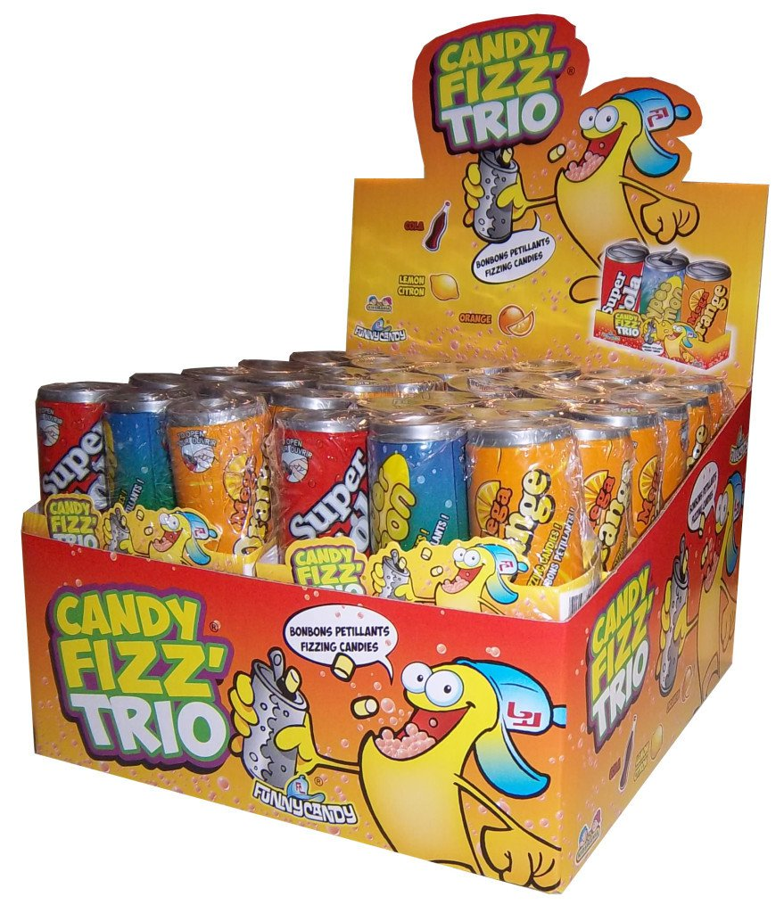 Funny candy | Candy Fizz Trio | 24 stuks