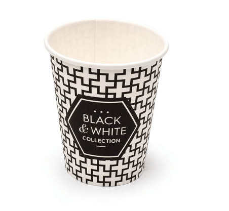 Black&White Collection koffiebeker 180 ml 25 x 100 Bekers zwart-wit