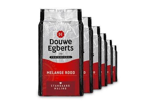 Douwe Egberts Melange Rood Snelfilter, 1kg à 6 stuks