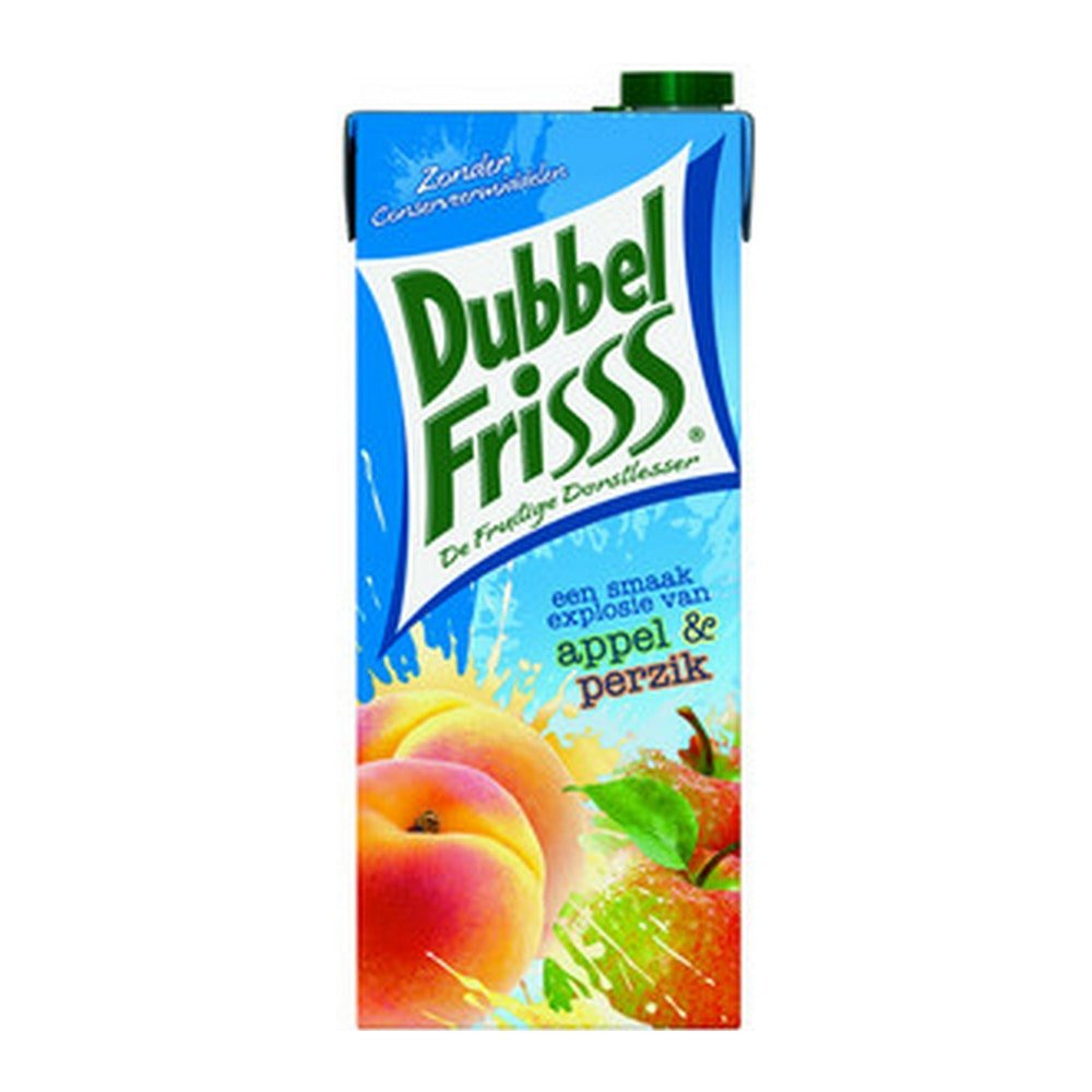 Dubbelfrisss Appel-Perzik 1,5 liter | 8 stuks