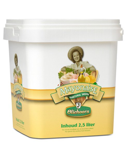 Oliehoorn | Mayonaise 80% | Emmer 2,5 liter