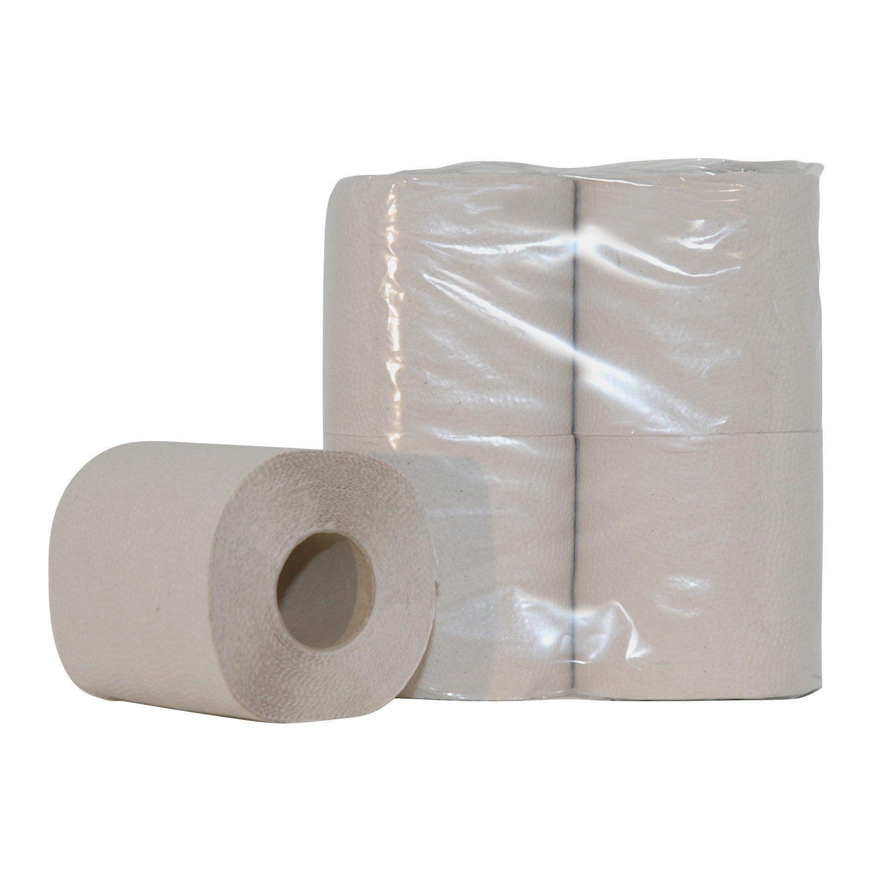 Euro Products   Toiletpapier 1-laags Crèpe Naturel   10 x 4 rollen