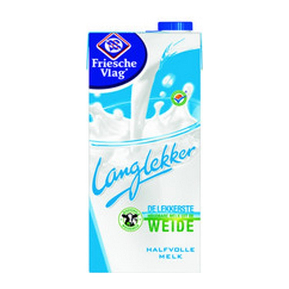 Friesche Vlag Langlekker | Halfvolle melk | Pak 12 x 1 liter