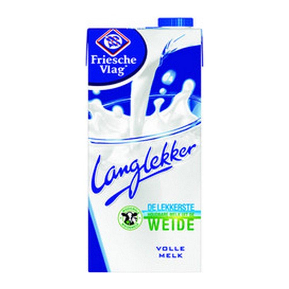 Friesche Vlag Langlekker | Volle melk | Pak 12 x 1 liter