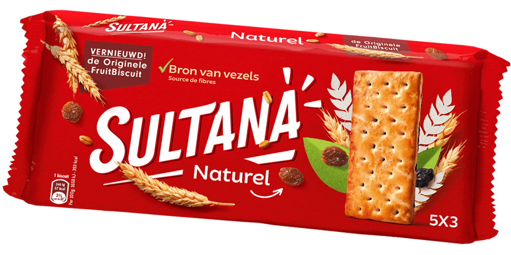 Sultana | Fruitbiscuit Naturel | 24 stuks