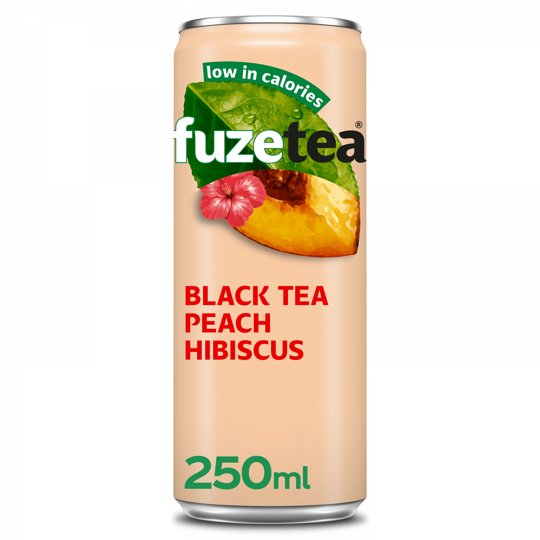 Fuze Tea Black Tea Peach Hibiscus 25 cl 24 blikjes
