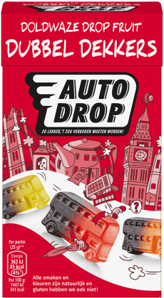 Autodrop | Dubbeldekkers | 6 x 280 gram | Vegan