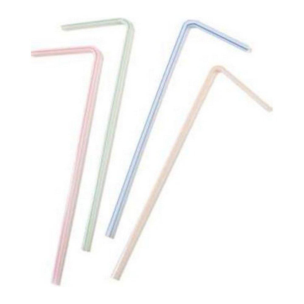 Plastic buigrietjes 5 mm 24 cm gestreept 500 stuks