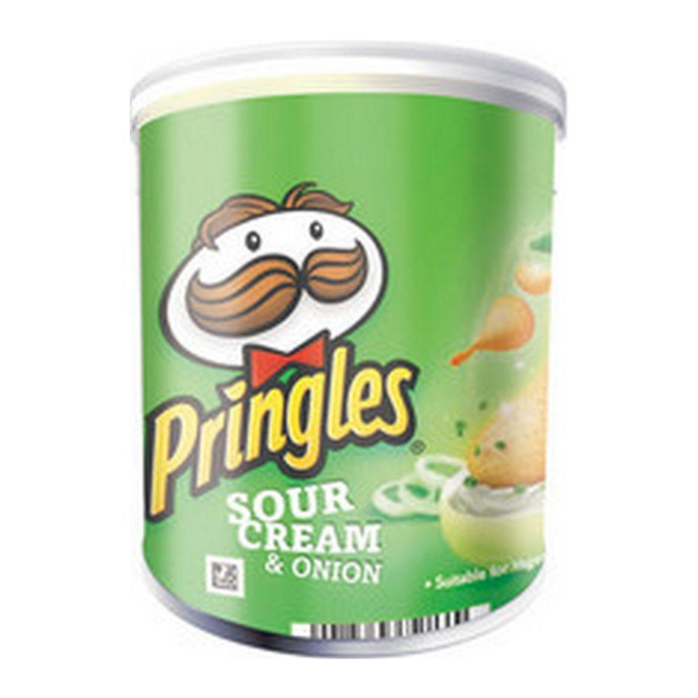 Pringles Sour Cream & Union, 12 stuks