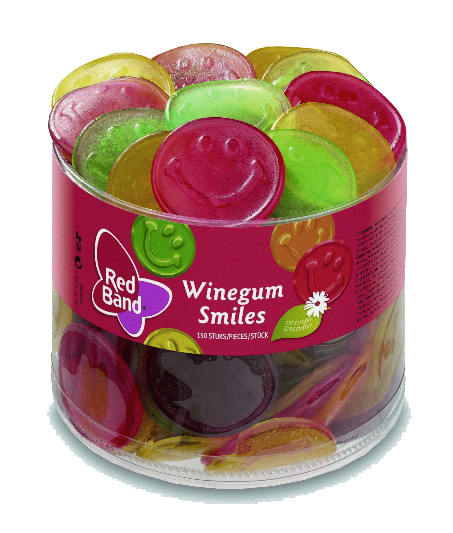 Red Band | Winegum Smiles | 150 stuks