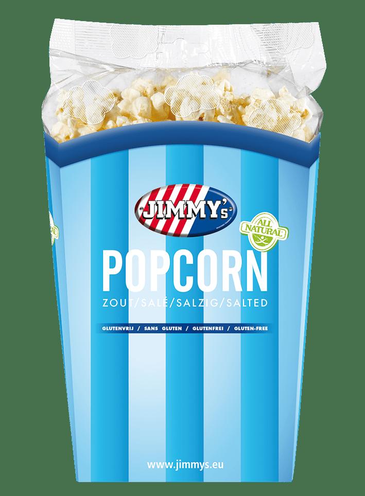 Jimmy's | Popcorn zout | Tub 6 x 90 gram