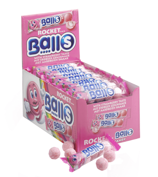 Astra Sweets | Rocket Balls | Aardbei | 5-pack