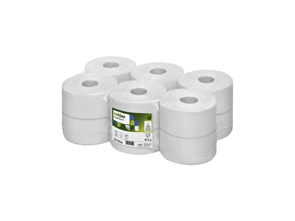 Satino | Mini jumborol | 2-laags cellulose | 12x180 meter