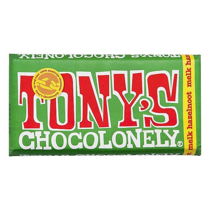 Tony's Chocolonely | Melk hazelnoot | Doos 15 stuks